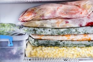 contents of Frigidaire freezer