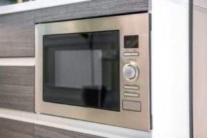 built-in microwave installation