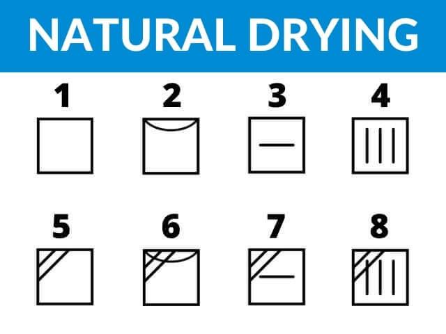 natural-drnatural drying symbolsying-symbols